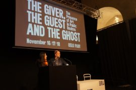 Symposium 'The giver, the guest and the ghost: the presence of art in public realms'. General views, Oslo Pilot, 2016, Oslo. Photograph: Ane Mari Aakernes