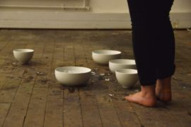 Hannah Elizabeth Allan, Change of State, durational performance, 2014. Photo: Hannah Ruby Davies.