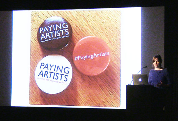 Julie McCalden at 'Art is not a Commodity: Examining Economic Exceptionalism in Art', ICA, London, 18 February 2017. Courtesy: ICA, London