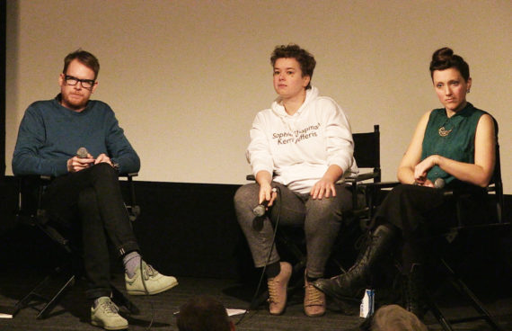 Left to right: Ben Fitton, Rosalie Schweiker, Mel Evans, at 'Art is not a Commodity: Examining Economic Exceptionalism in Art', ICA, London, 18 February 2017. Courtesy: ICA, London
