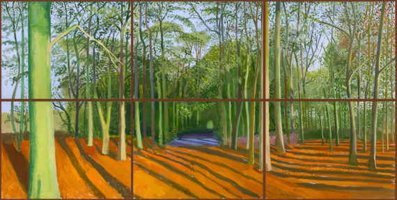 Woldgate Woods, 6 & 9 November 2006 2006 Oil paint on six canvases 914 x 1219 mm David Hockney Inc. (Los Angeles, USA)  © David Hockney. 