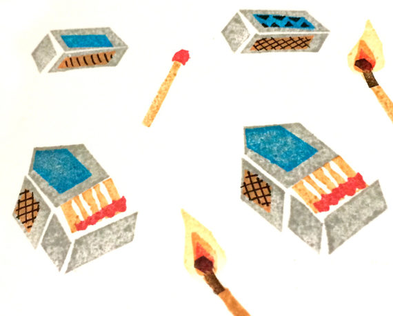 Rubber stamp designs by Corinne Welch. Photo: Corinne Welch