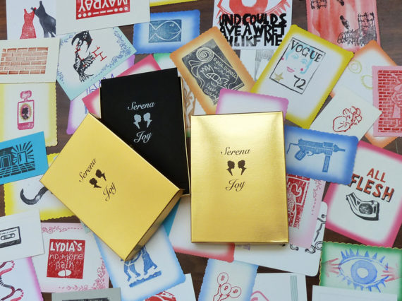 Serena Joy, collaborative rubber stamp bookwork for World Book Night. Photo: Sarah Bodman