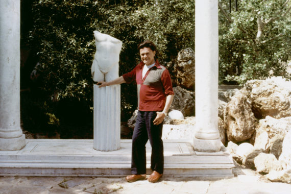 William E. Jones, Fall Into Ruin, 2017. Film Still: Alexander Iolas outside his house in Athens, 1982. Courtesy of The Artist and The Modern Institute/Toby Webster Ltd, Glasgow.