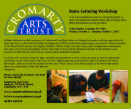 Cromarty Stone Lettering Workshop