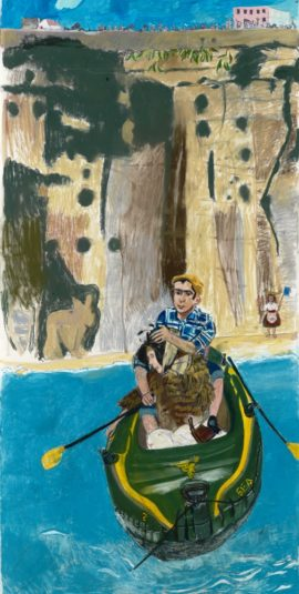 Paula Rego, Rowing from Ericeira, 'The Last King of Portugal' series, 2014. © Paula Rego. Courtesy: Marlborough Fine Art