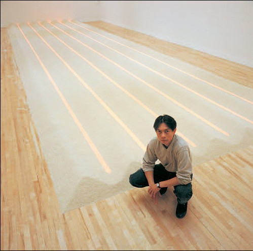 'Neon Rice Field' (1993) Vong Phaophanit