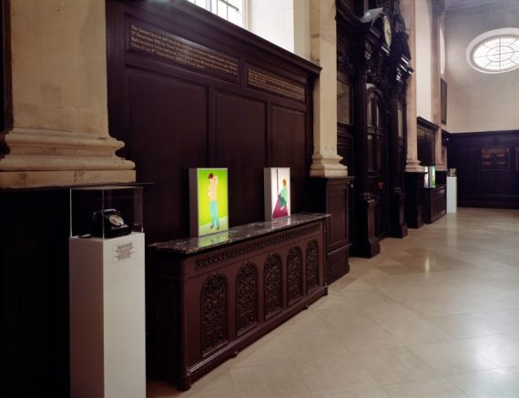 Adele Prince, Likewise, 2005 (installation shot at St Stephen Walbrook; Photo by Richard Mosse), curated by ACE Trust.