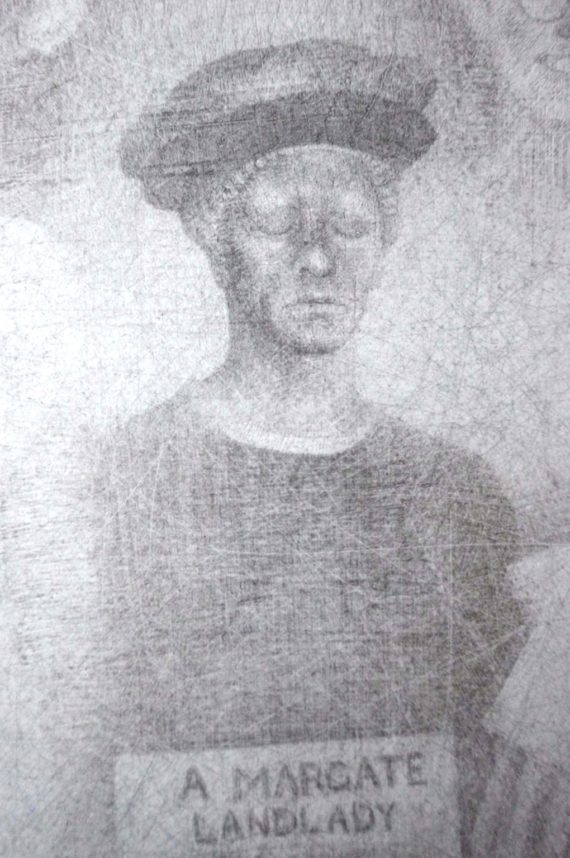 margate landlady. silverpoint. drawing. roy eastland