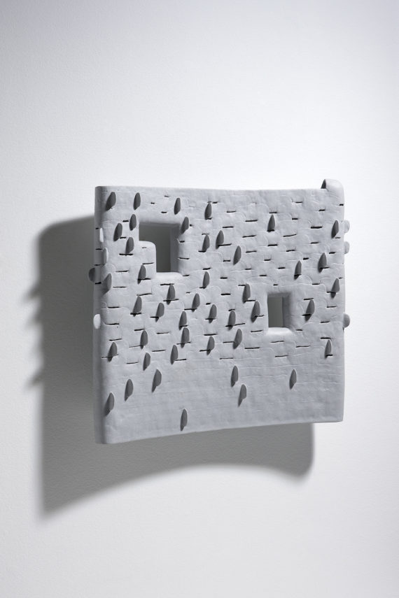 Chun Bok Lee, Still Forest 3, porcelain, 51x47x12cm, 2015