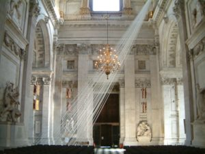 Yoko Ono, Morning Beams for the City of London, 2006 (installation shot at St Paul's Cathedral), curated by ACE Trust.