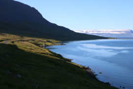 Driving through West fjords, Iceland