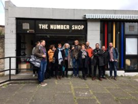 The a-n team at The Number Shop, Edinburgh as part of a recent team day in the city