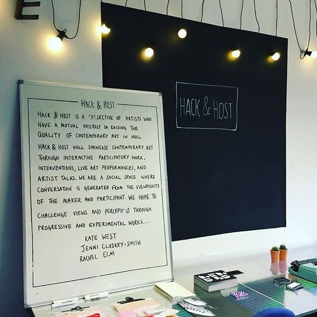 Hack and Host's Manifesto in its temporary office space, 2016.