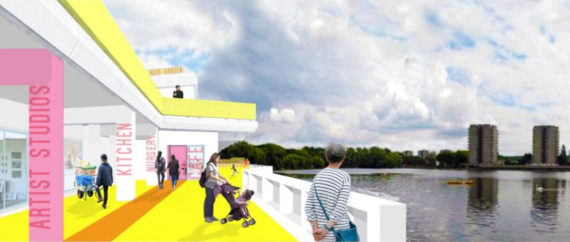 Artist's impression of the Lakeside Centre in Thamesmead. Courtesy: Bow Arts
