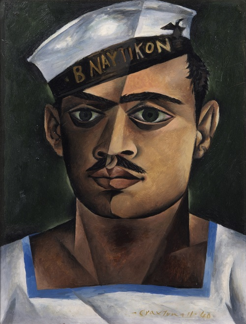 John Craxton, Head of a Greek Sailor, 1940. Oil on board, 330 x 305 mm, London Borough of Camden. © Estate of John Craxton. All rights reserved, DACS 2016. Photo credit: London Borough of Camden