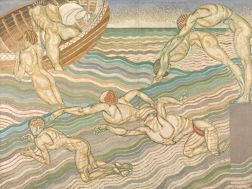 Duncan Grant, Bathing, 1911. Oil paint on canvas, 2286 x 3061 mm. © Tate