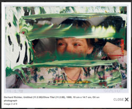 Fig 15. Gerhard Richter, 'Untitled (11.2.98)', 1998, 10 cm x 14.7 cm, Oil on photograph