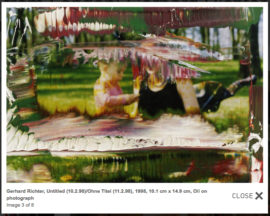 Fig 16. Gerhard Richter, 'Untitled (10.2.98)', 1998, 10.1 cm x 14.9 cm, Oil on photograph