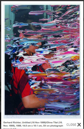 Fig 20. Gerhard Richter, 'Untitled (16 Nov 1999)', 1999, 14.8 cm x 10.1 cm, Oil on photograph.