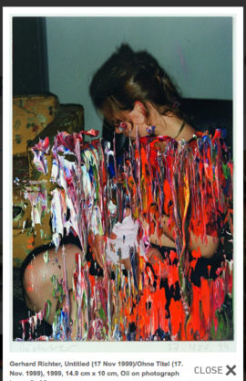 Fig 21. Gerhard Richter, 'Untitled (17 Nov 1999)', 1999, 14.9 cm x 10 cm, Oil on photograph.