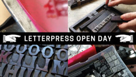 Letterpress open day at Mostly Flat