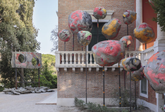 Phyllida Barlow, folly, Installation view, British Pavilion, Venice, 2017. Photo: Ruth Clark © British Council. Courtesy the artist and Hauser & Wirth. Phyllida Barlow's British Council commission is at the Biennale Arte 2017 from 13 May to 26 November. www.britishcouncil.org/venicebiennale