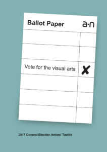 a-n 2017 General Election Artists' Toolkit