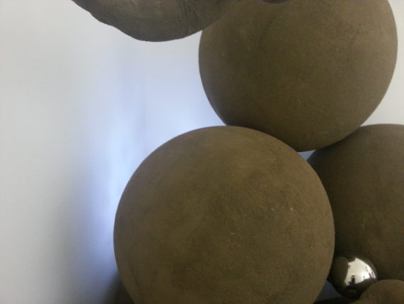 Pile od spheres with COB light behind