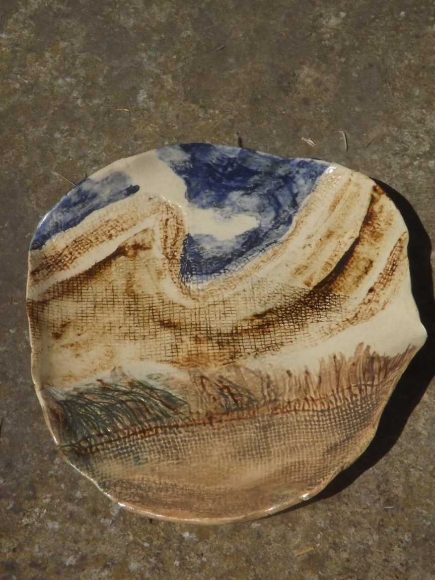 Oxide glazes on paper clay