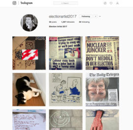 Screengrab of Cornelia Parker's Election Artist 2017 Instagram (https://www.instagram.com/electionartist2017)
