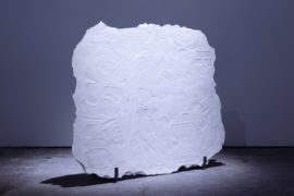 Joanne Masding, Slabs and Facsimiles 1, 2016, plaster and steel. Image courtesy Jules Lister.