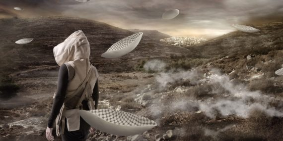 Larissa Sansour, In the Future, They Ate From the Finest Porcelain, © Larissa Sansour. Video still.