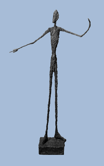Alberto Giacometti 1901-1966, Man Pointing 1947, bronze sculpture, Tate, purchased 1949. © The Estate of Alberto Giacometti Fondation Giacometti, Paris and ADAGP, Paris), licensed in the UK by ACS and DACS, London 2016