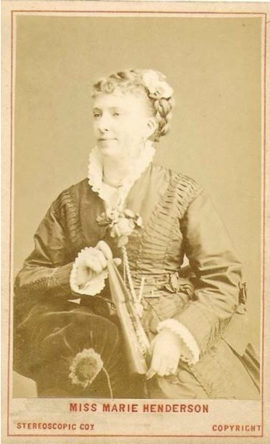 Victorian actress of melodrama at the Elephant and Castle Theatre.