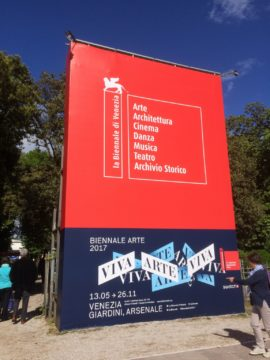 At the entrance to the Venice Biennale - Giardini. Photo: Shaun Badham