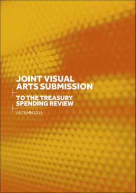 Joint visual arts submission to the Treasury Spending Review
