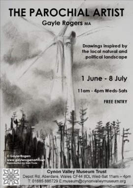 wind turbine drawing in black and white