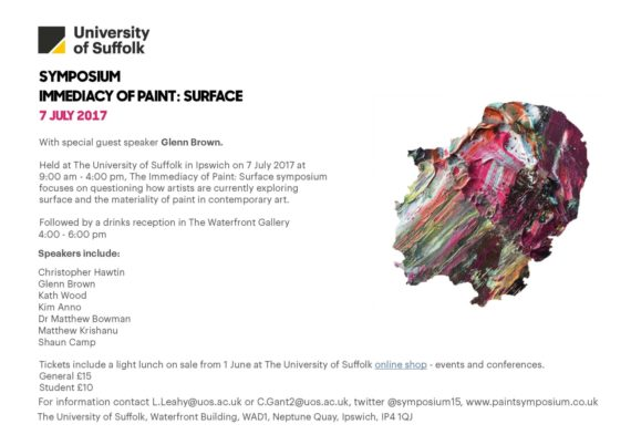 Symposium The Immediacy of Paint: Surface