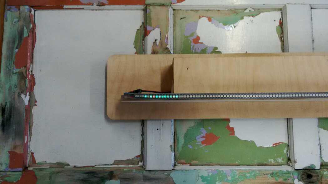 arduino driven led non linear linear clock
