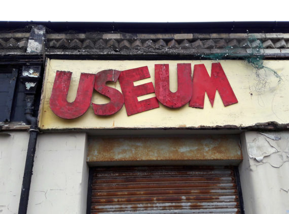 Pic of dilapidated shop sign