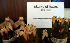 whittled skulks of foxes