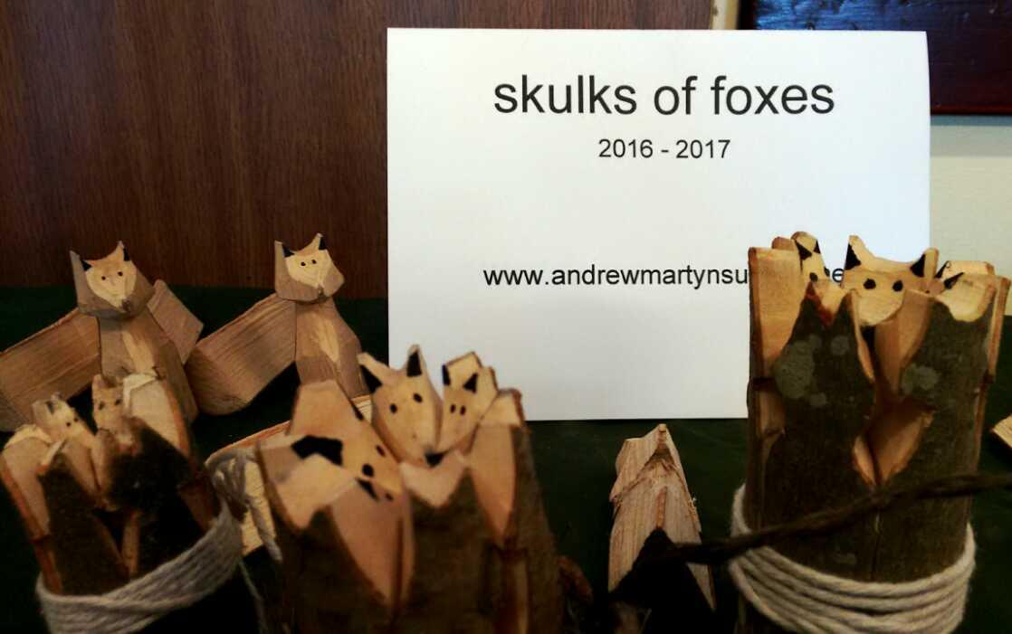 whittled skulks of foxes