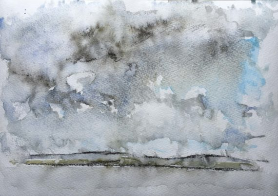 Watercolour painted in the rain
