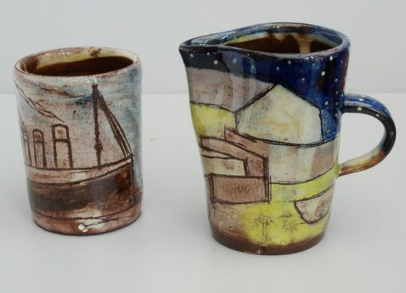 Anne Barrell, cup and jug