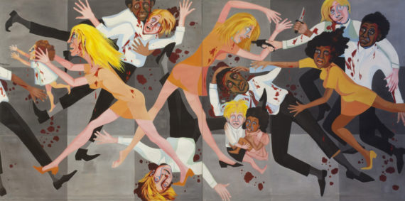 Faith Ringgold (b. 1930), American People Series #20: Die, 1967, Oil on canvas, 1828x3657mm, The Museum of Modern Art, New York. Purchase; and gift of thge Modern Women's Fund, © Faith Ringgold. Soul of a Nation: Art in the Age of Black Power Tate Modern, 12 July – 22 October 2017
