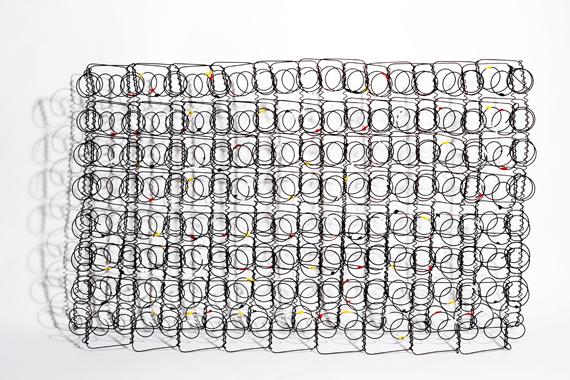 Homage to Pollock II, oils on rusted metal, 100x60x15cm, by Lorenzo Belenguer