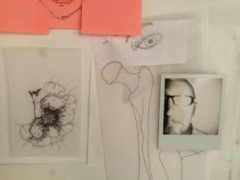 Details of collected drawings and polaroids from  participants.