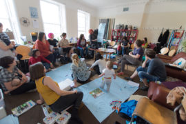 Mapping what a guide for artist parents could be: workshop as part of Assembly Bristol, June 2017. Photo: Rich Broomhall