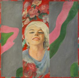 Pauline Boty, Colour Her Gone, oil on canvas, 1962. Courtesy: Wolverhampton Arts and Museums; © the artist's estate
